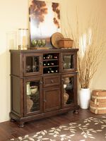 "Four Glass Door 52"" Server in Burnished Brown"