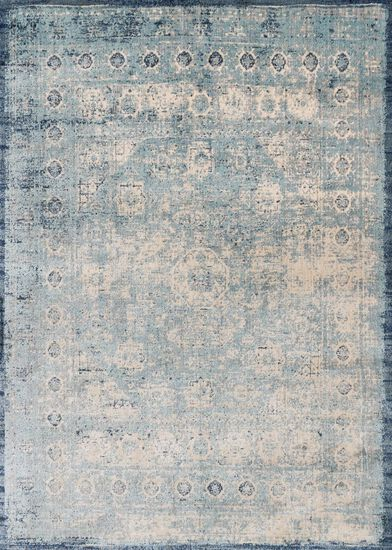 "Transitional 6'-7""x9'-2"" Rug in Lt. Blue/Ivory"