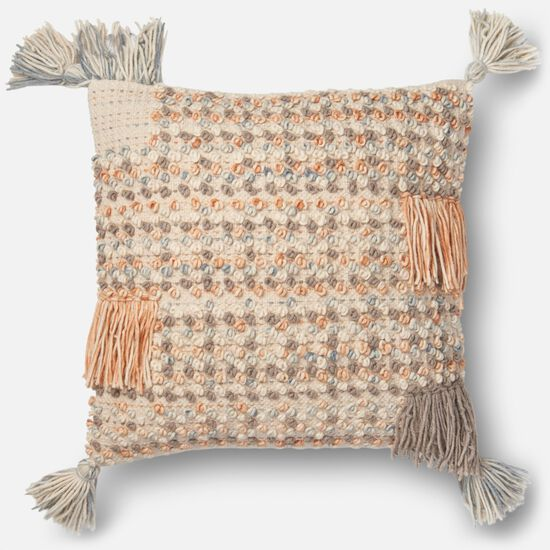 """Contemporary 22""""x22"""" Cover w/Poly Pillow in Multi"""