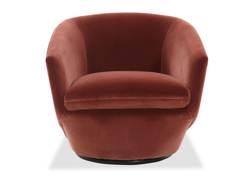 "Contemporary 30""Swivel Chair in Red"