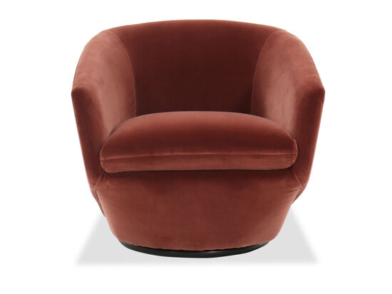 """Contemporary 30""""Swivel Chair in Red"""
