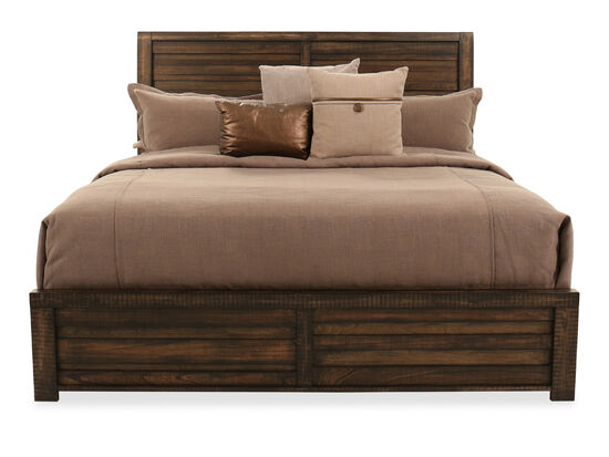 Traditional Queen Sleigh Bed in Brown Tobacco