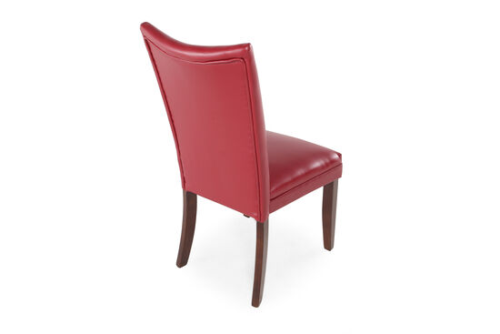 Two-Piece Flared Back Side Chair Set in Red