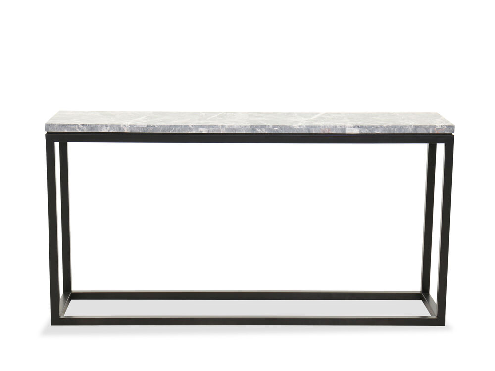 Contemporary Rectangular Console Table in Cerused Priano