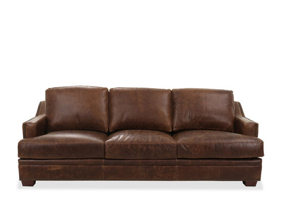 By Usa Leather 1 526 95 0 No Reviews Nailhead Trimmed Transitional 97 39 Sofa