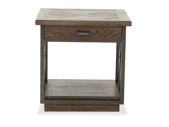 Traditional One-Drawer End Table in Walnut