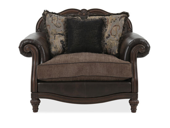 """Camelback Traditional 56"""" Chair in Brown"""