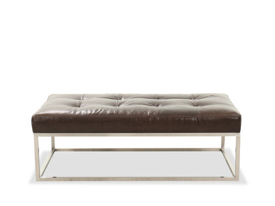"Casual 53"" Rectangular Ottoman in Brown"