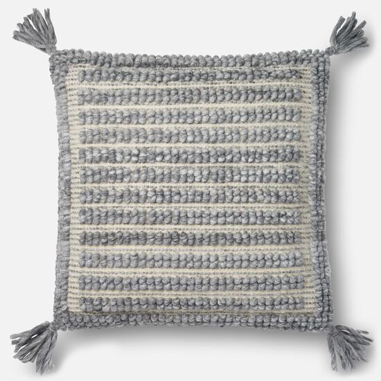 """22""""x22"""" Cover w/Down Pillow in Grey"""
