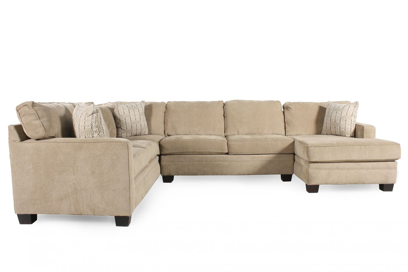 Casual 118 5 Sectional In Sand Mathis Brothers Furniture