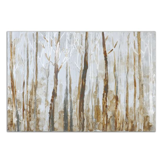 Hand Painted Forest Canvas Wall Art