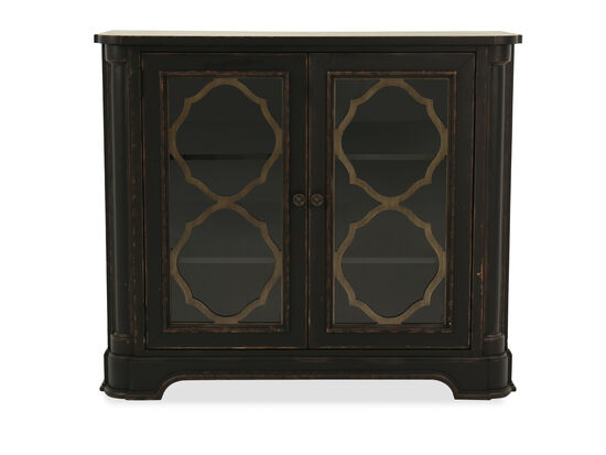 """42"""" Traditional Two-Door Media Chest in Kettle Black"""