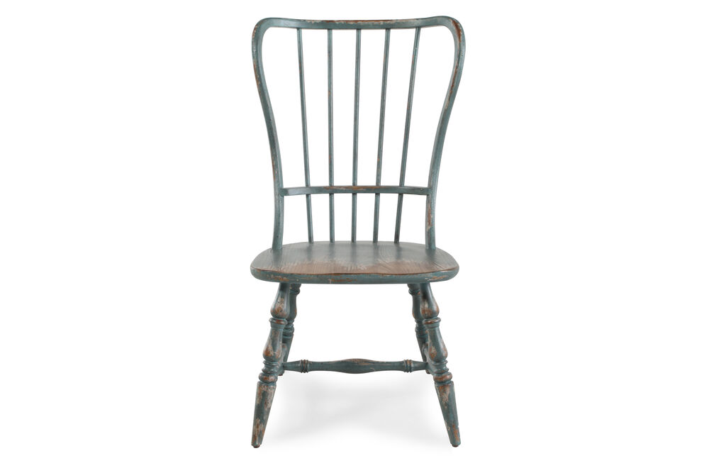 Images Spindle Back 43'' Side Chair in Antique Blue - Spindle Back 43'' Side Chair In Antique Blue Mathis Brothers Furniture