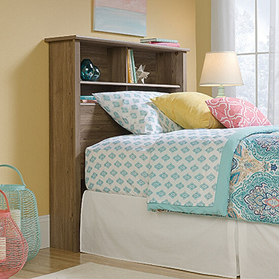 "Cottage 47"" Twin Bookcase Headboard in Salt Oak"