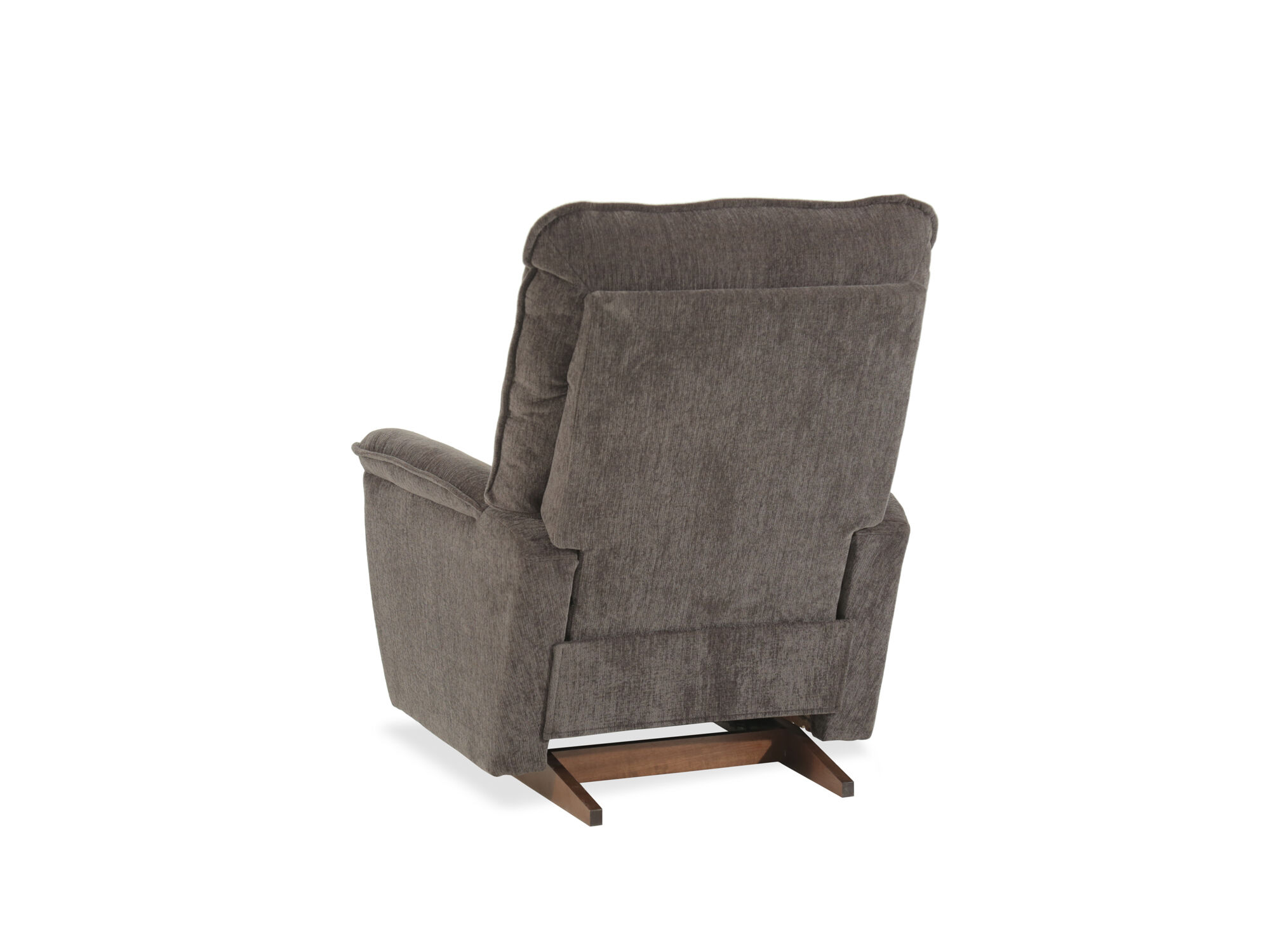 Supported On A Dark Brown Finished Base With A Matching Pull Handle, This Rocker  Recliner Gives A Cushy Upgrade To Indoor Lounging.
