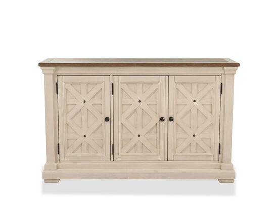 """Casual 58"""" Dining Room Server in Antique White"""