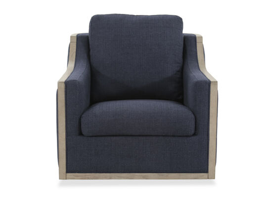 "Curved Arm Casual 34"" Accent Chair in Blue"