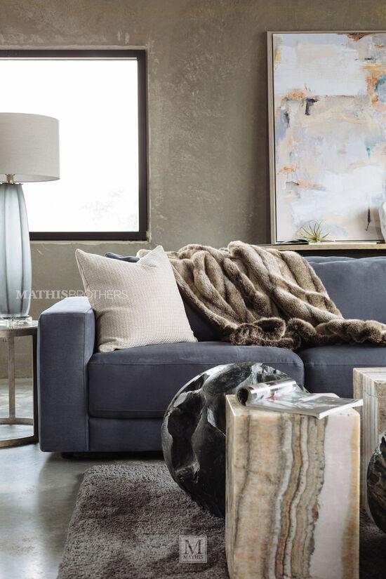 Five-Piece Contemporary Sectional in Regata Gray