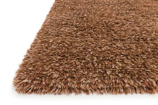 Shags Square Rug in Rust