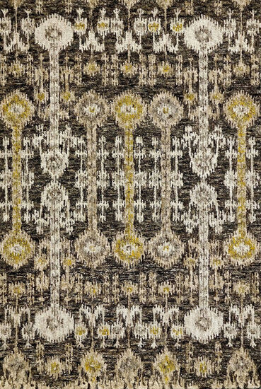 DaVinci Eglictic 5x8 Rug in Black and Yellow