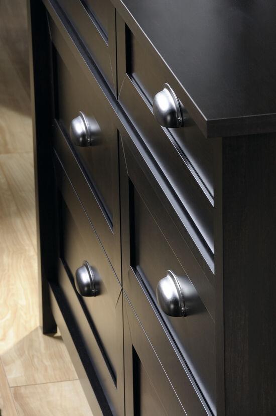 "33"" Contemporary Paneled Six-Drawer Dresser in Estate Black"