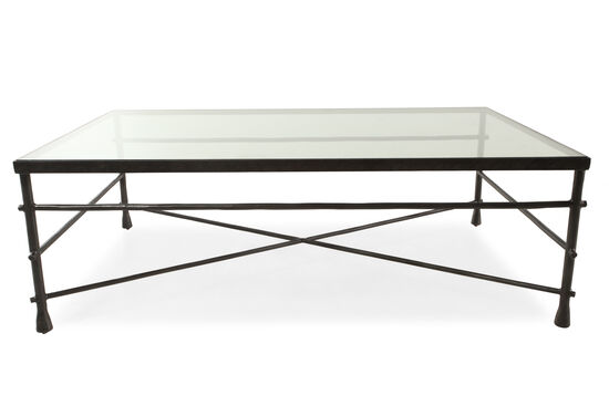 Rectangular Transitional Coffee Table in Gunmetal Gray
