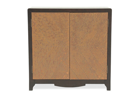 36'' Two-Door Transitional Accent Cabinet in Dark Brown