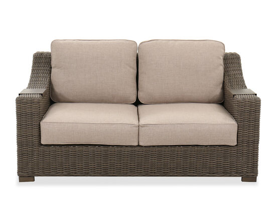 Aluminum Patio Loveseat in Brown