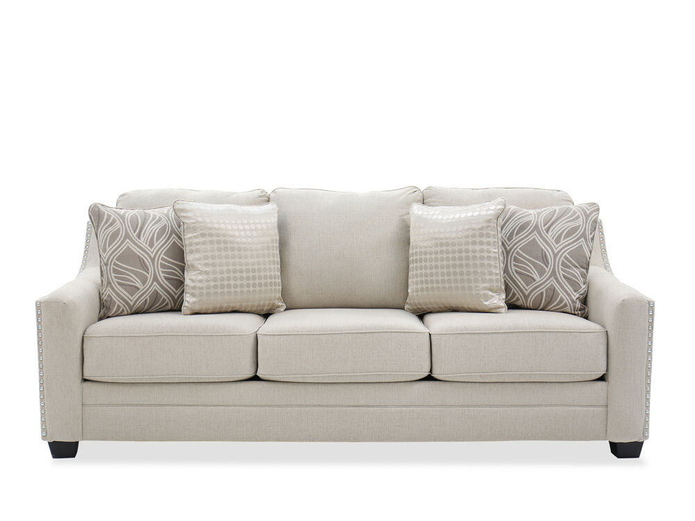 Images Straight Arm 92 Sofa In Linen