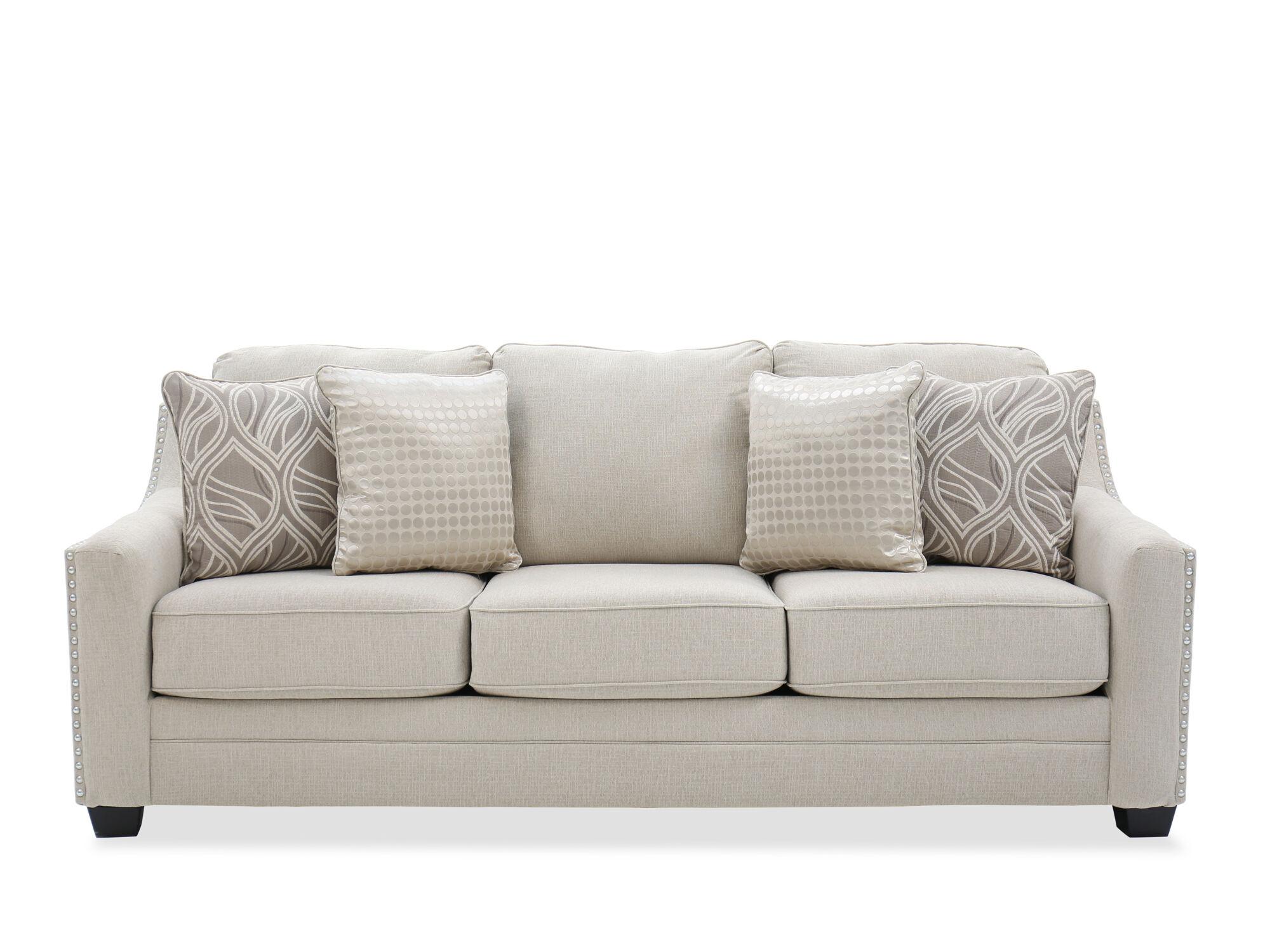 Straight Arm 92u0026quot; Sofa In Linen