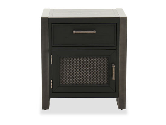 Transitional Youth One-Drawer Nightstand in Gray