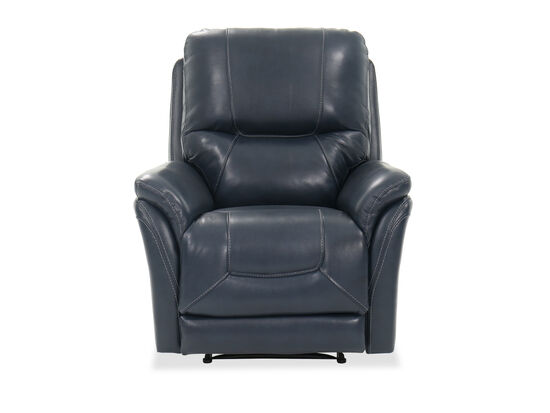 "Contemporary 35"" Power Recliner in Blue"
