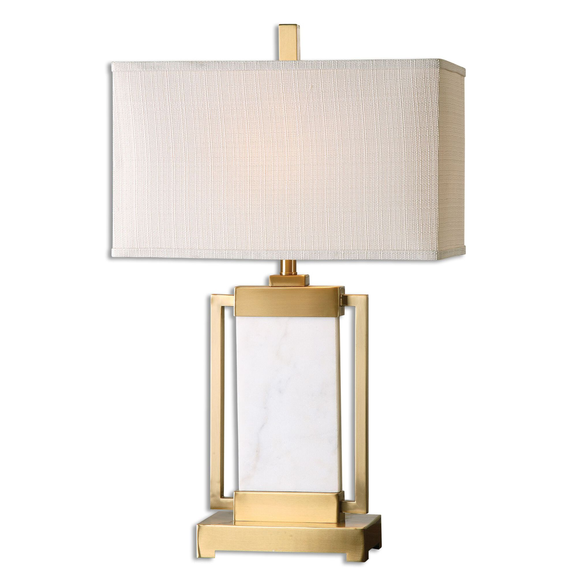Marble Base Table Lamp In Beige Mathis Brothers Furniture