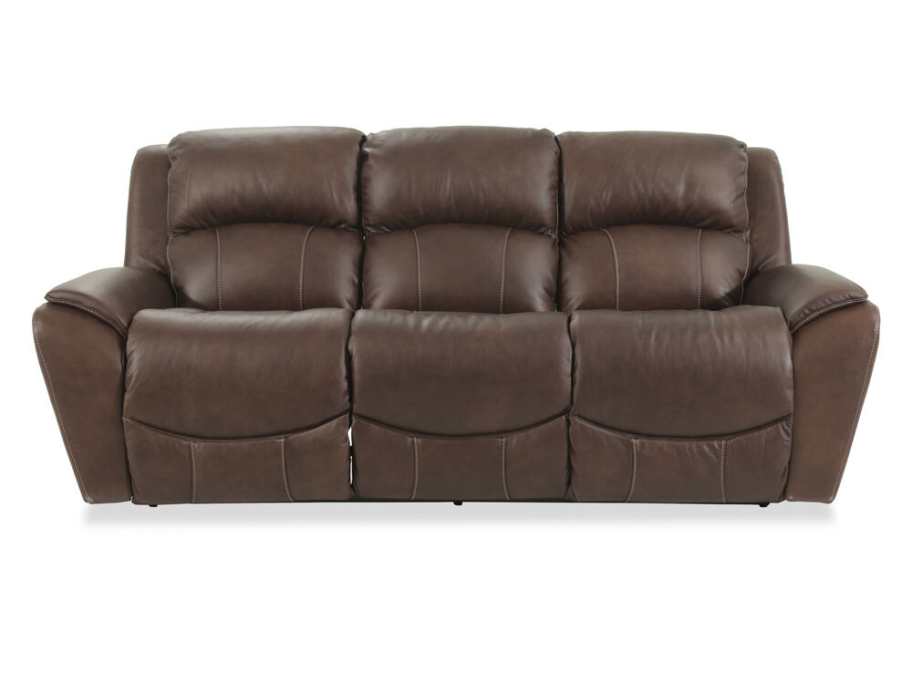 Casual 88 Quot Power Reclining Sofa In Brown Mathis Brothers