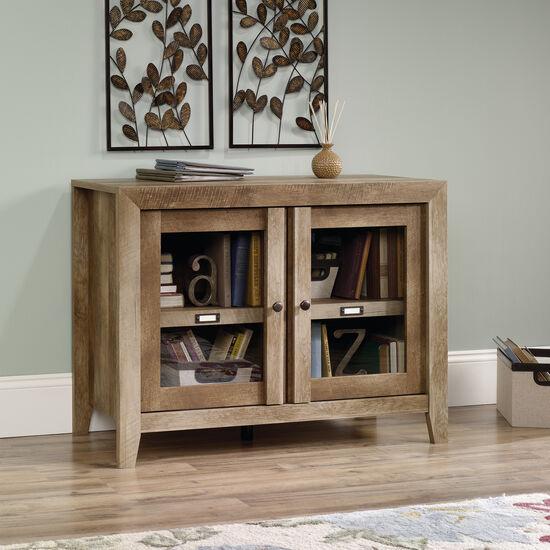 Two-Door Casual Display Cabinet in Oak