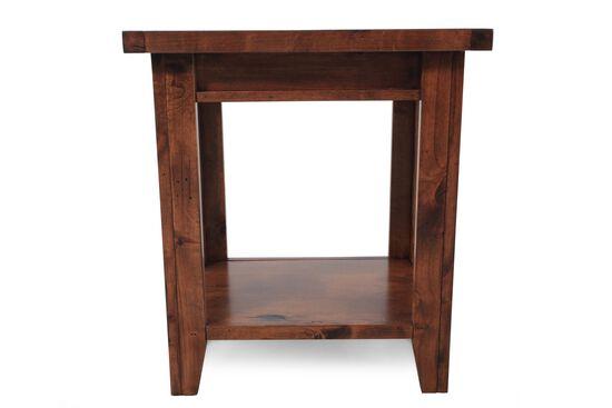 Rectangular Casual Chairside Tablein Brown