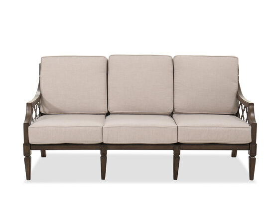 Aluminum Sofa in Brown