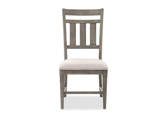 """Traditional 40"""" Dining Side Chair in French Gray"""