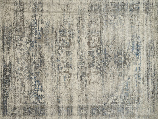 Loloi Power Loomed 5'3''x7'6'' Rug in Taupe/Ivory