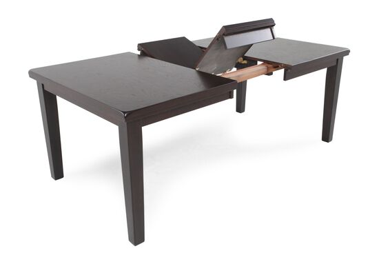"""60"""" to 78"""" Rectangular Dining Table with Butterfly Leaf in Dark Brown"""