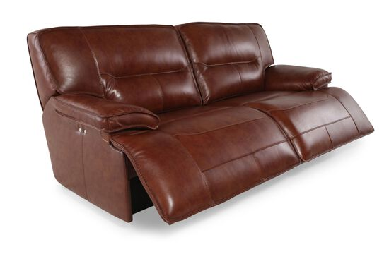 """Traditional Power Reclining 87"""" Sofa in Chestnut"""