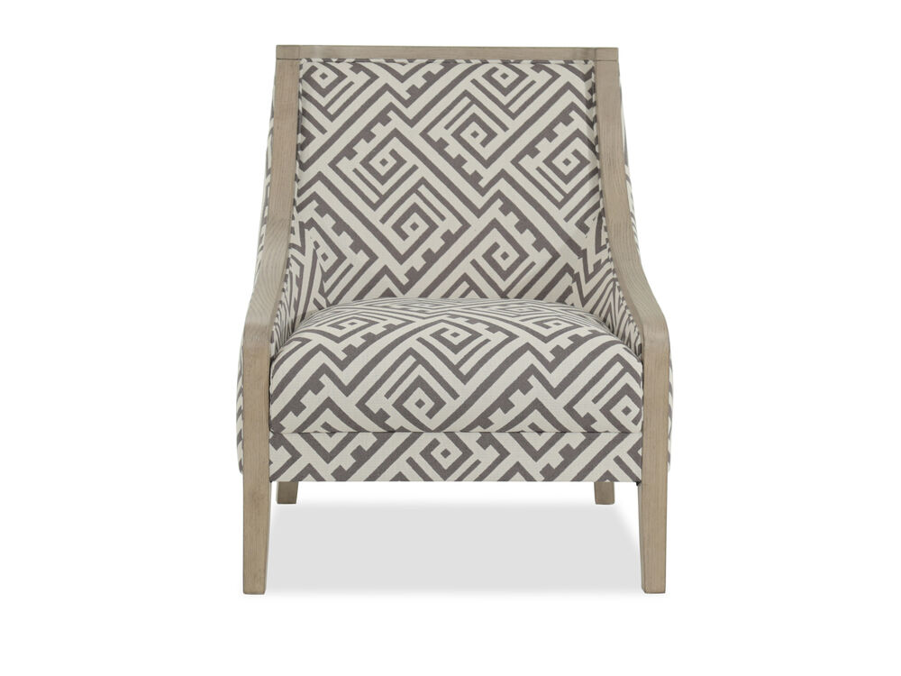 """Geometric Patterned Contemporary 28"""" Accent Chair"""