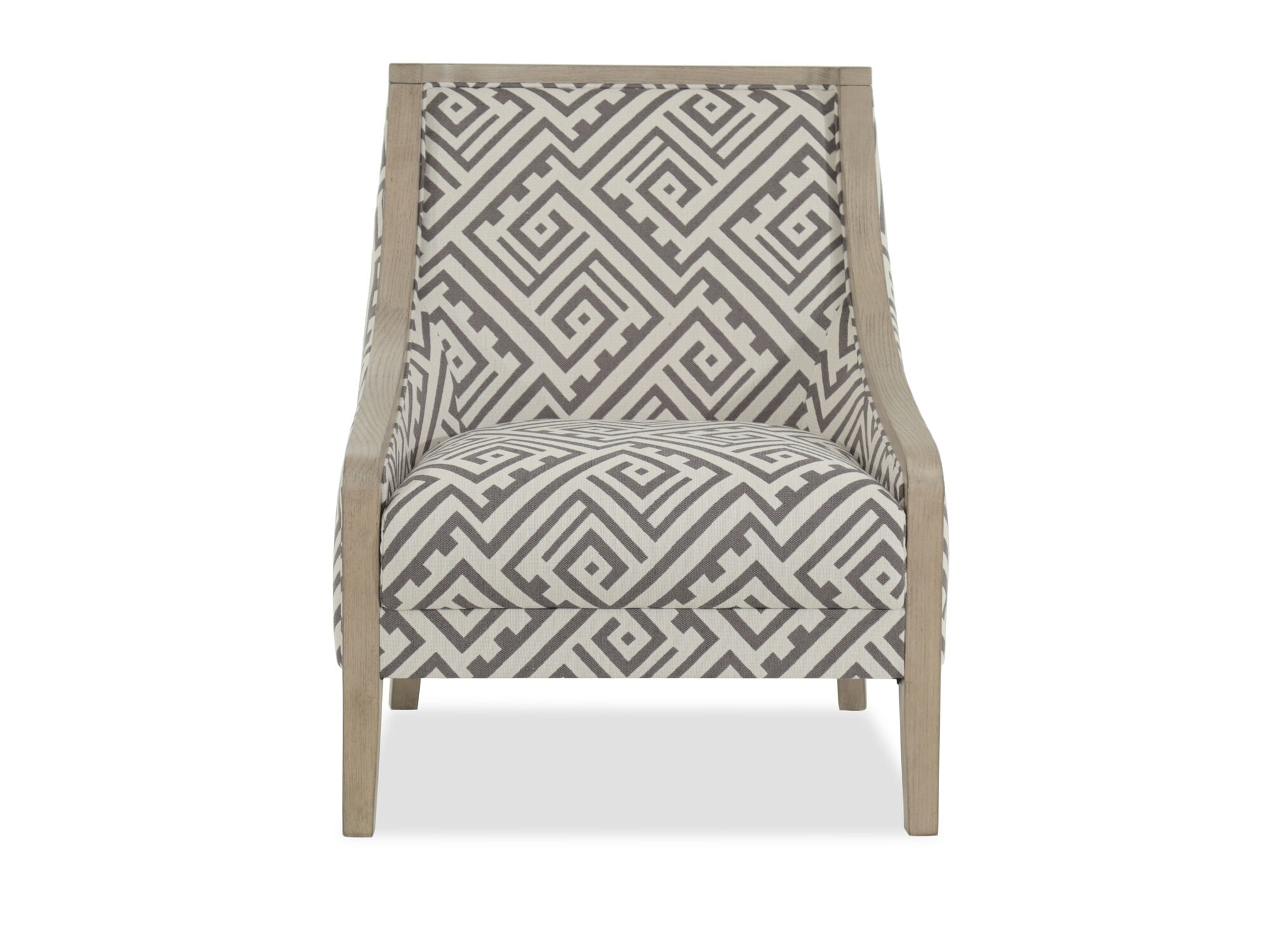 Geometric Patterned Contemporary 28 Quot Accent Chair Mathis