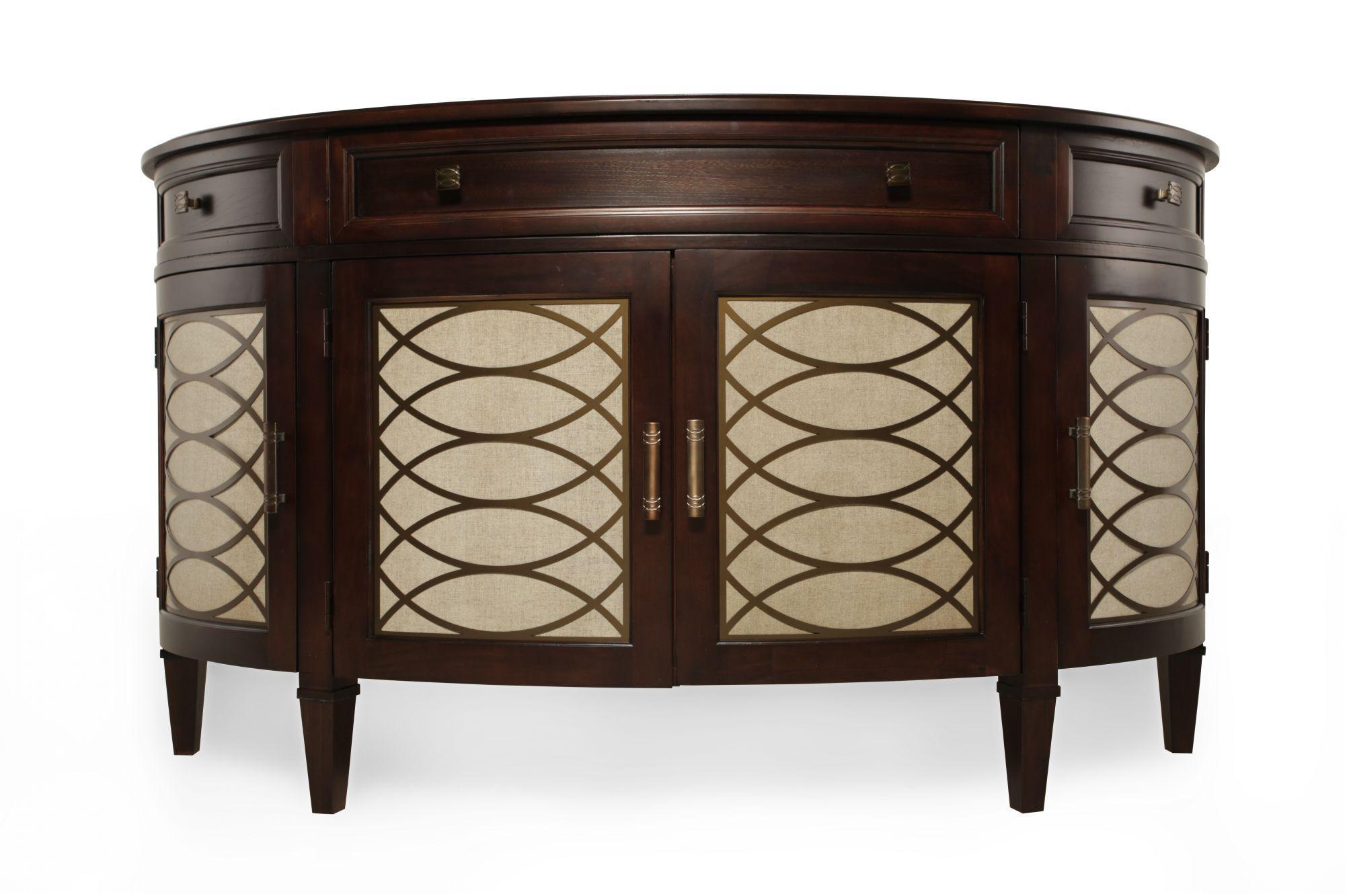 Modern Dark Wood Credenza : Hd tv entertainment stand media cabinet credenza drawers dark