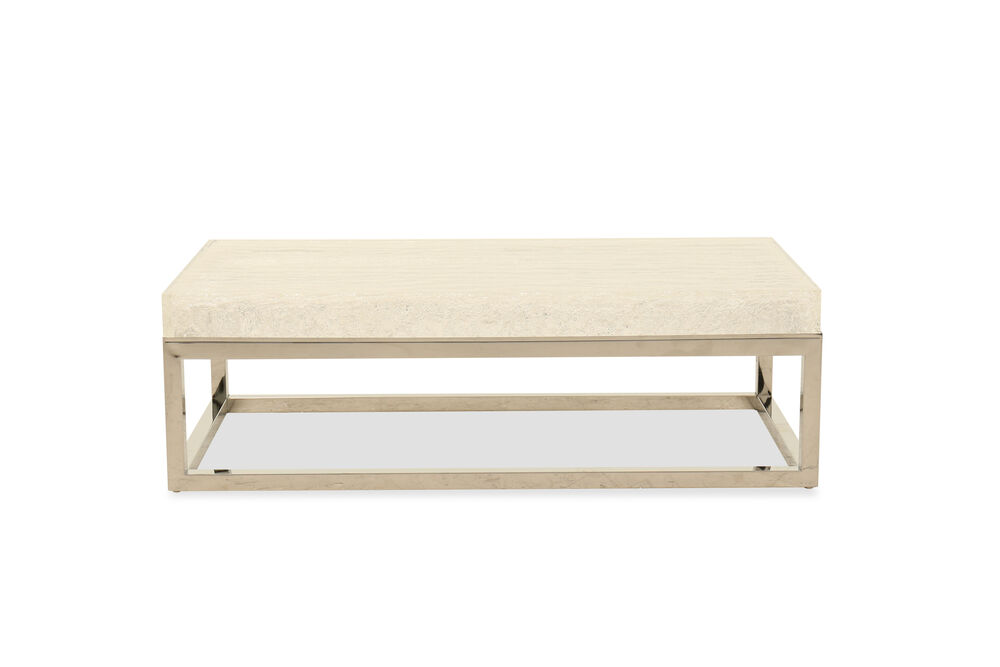 Modern Rectangular Cocktail Table in Silver