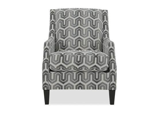 """Patterned Contemporary 30"""" Accent Chair"""