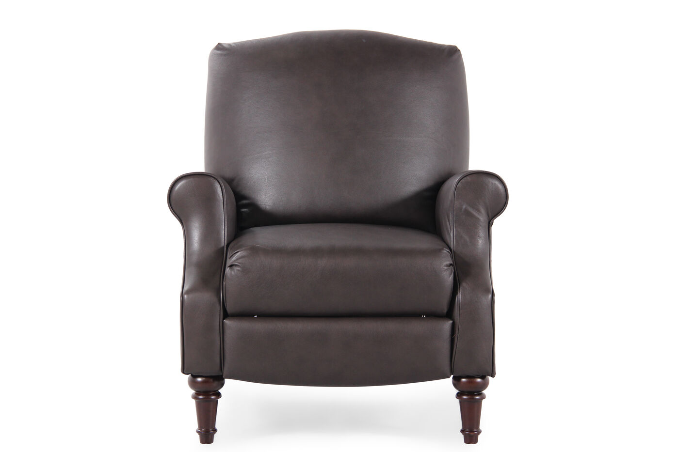 Hide A Chaise Leather 35 Quot Recliner In Dark Brown Mathis