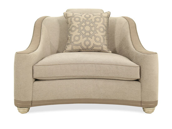 Nailhead-Trimmed Casual 54'' Chair in Pewter