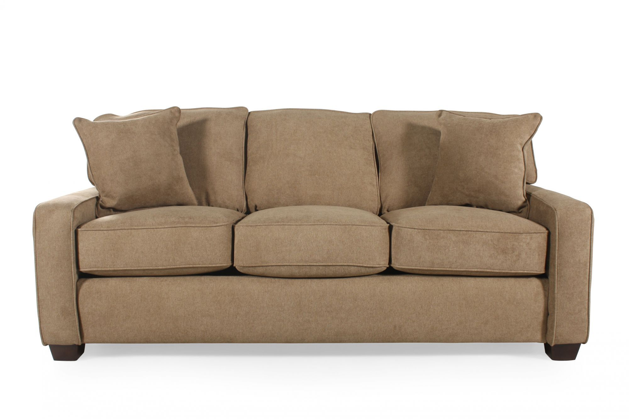 I Rest Queen Sleeper Sofa in Brown   Mathis Brothers Furniture