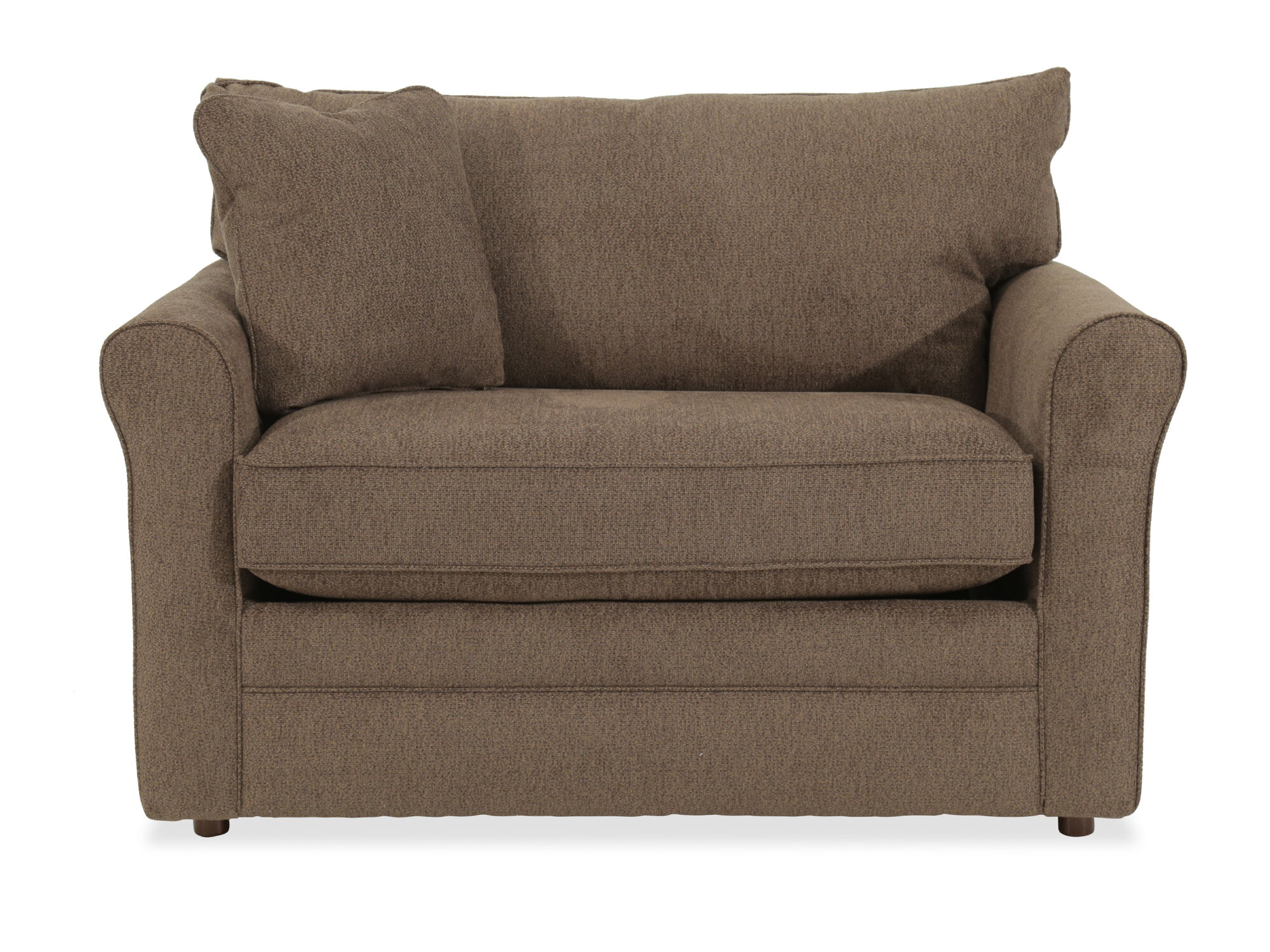 lazboy leah premier supreme comfort brown twin sleeper chair